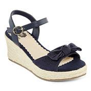 Total Girl® Wylie Girls' Wedge Sandals - Little Kids