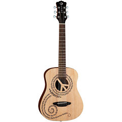 Luna Guitars Safari Peace Travel Acoustic Guitar with Gig Bag