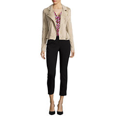 Worthington® Moto Jacket, Button-Front Blouse or Centennial Ankle Pants