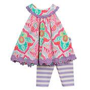 Rare Editions Girls 2-pc. Legging Set-Toddler
