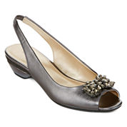 east 5th® Helena Embellished Slingback Pumps
