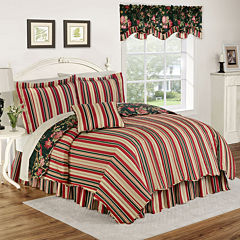 Waverly® Charleston Chirp Noir Reversible Quilt Set & Accessories