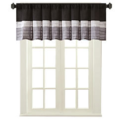 Infinity Polyoni Pintuck-Striped Rod-Pocket Valance