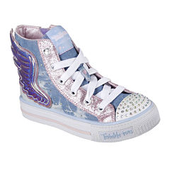 Skechers Twinkle Toes Shuffles Flutter Girls Sneakers - Little Kids