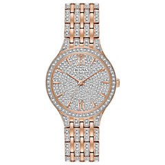 Bulova Womens Rose Goldtone Bracelet Watch-98l235