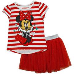 Disney by Okie Dokie 2-pc. Minnie Mouse Skirt Set Toddler Girls