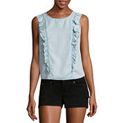 Arizona Denim Ruffle Top- Juniors