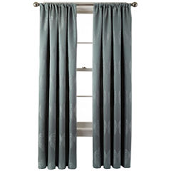 Liz Claiborne® Blakely Damask Rod-Pocket Curtain Panel