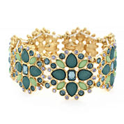 nicole by Nicole Miller® Blue and Green Stretch Bracelet