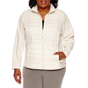 Made For Life Quilted Brushed Fleece Jacket-Plus