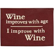 Wine Improves Rectangular Rug