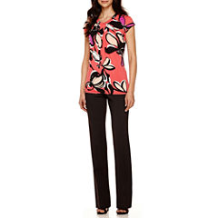 Worthington® Twist-Front Blouse or Straight-Leg Pants