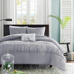 Mi Zone Delia Ruched Comforter Set