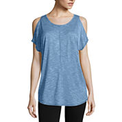 City Streets Cold Shoulder Short Sleeve Tee