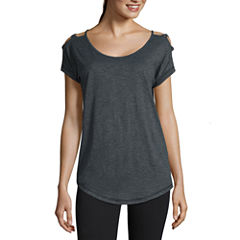 Xersion™ Studio Lattice Shoulder Short Sleeve Tee