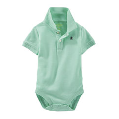 OshKosh B'gosh® Short-Sleeve Polo Bodysuit - Baby Boys 3m-24m