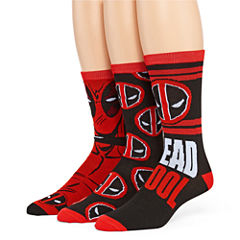 Marvel® Deadpool 3-pk. Crew Socks