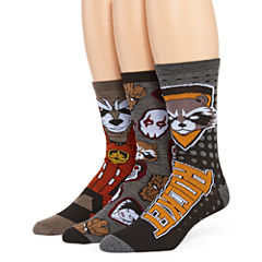 Marvel® 3Guardians of the Galaxy Rocket 3-pk. Crew Socks