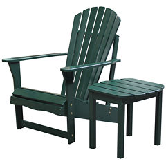 Adirondack Chair And Table 2-pc. Patio Lounge Set