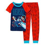 Disney Boys Long Sleeve Miles Pant Pajama Set-Big Kid