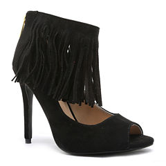Qupid Ara Fringe Pumps