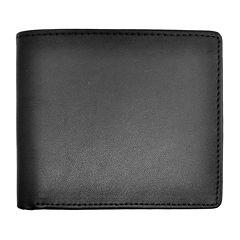 Royce® Double ID Flap Leather Bifold Wallet