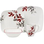 Corelle® Boutique™ Kyoto Leaves 16-pc. Square Dinnerware Set