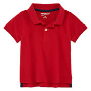 Arizona Short Sleeve Solid Cotton Polo Shirt - Baby