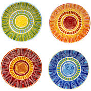 Certified International Tapas Set of 4 Dinner Plates