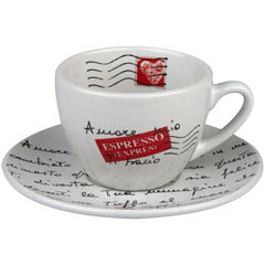Konitz Coffee Bar Amore Mio 8-pc. Coffee Cup and Saucer Set