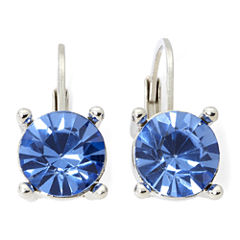 Monet® Silver-Tone Blue Stone Small Drop Earrings