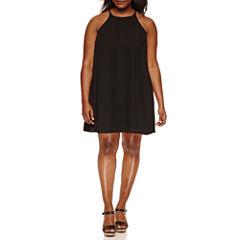 Decree Halter Swing Dress - Juniors Plus