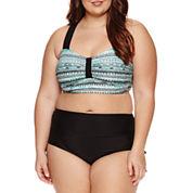 Arizona Bralette Swimsuit Top or Hi-Waist Hipster -Juniors Plus