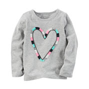 Carter's Toddler Girls Long Sleeve Heart T-Shirt