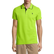 U.S. Polo Assn. Slim Fit Short Sleeve Solid Pique Polo Shirt
