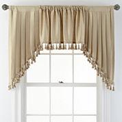 Royal Velvet® Supreme Rod-Pocket Lined Swag Window Valance Pair