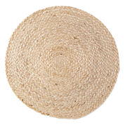 Natural Jute Set of 4 Round Woven Placemats