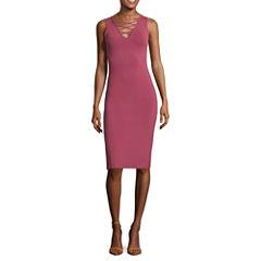 Decree Lattice Front Bodycon Dress - Juniors