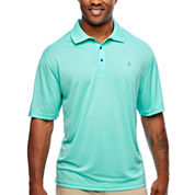 IZOD Short Sleeve Grid Woven Polo Shirt- Big & Tall