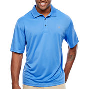IZOD Short Sleeve Grid Woven Polo Shirt- Big & Tall