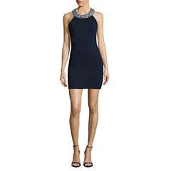 Speechless Sleeveless Embellished Bodycon Dress-Juniors