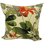 Meridian Tropical Floral Outdoor Pillow