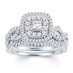 Modern Bride Signature Womens 1 CT. T.W. White Diamond 14K Gold Bridal Set