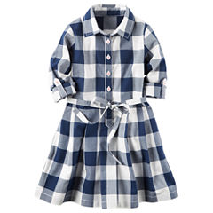 Carter's Long Sleeve A-Line Dress - Preschool Girls