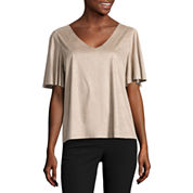 Worthington Flutter Sleeve Top