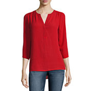 a.n.a. ¾ Sleeve Popover Blouse