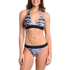 Fleetstreet Collection Geometric Halter Top or Swim Bottom