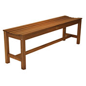 Outdoor Interiors 3-Seater Backless Bench in Eucalyptus