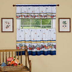 Fruity Tiles 3-pc. Rod-Pocket Kitchen Curtain Set
