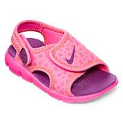 Nike® Sunray Adjustable Girls Sandals - Toddler